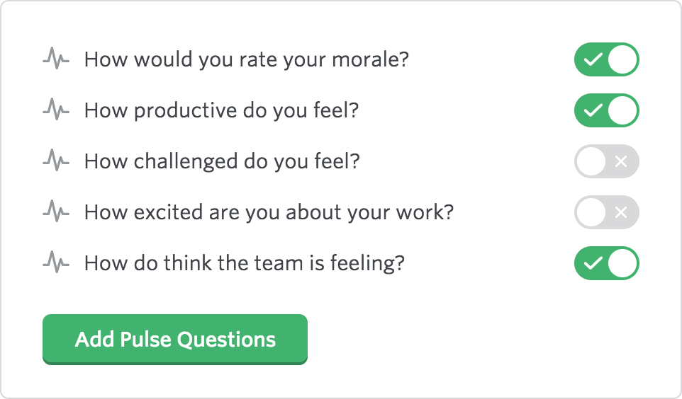 Lead Honestly Pulse Question options