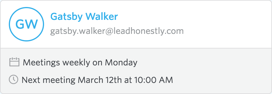 Lead Honestly employee overview with Google Calendar integration