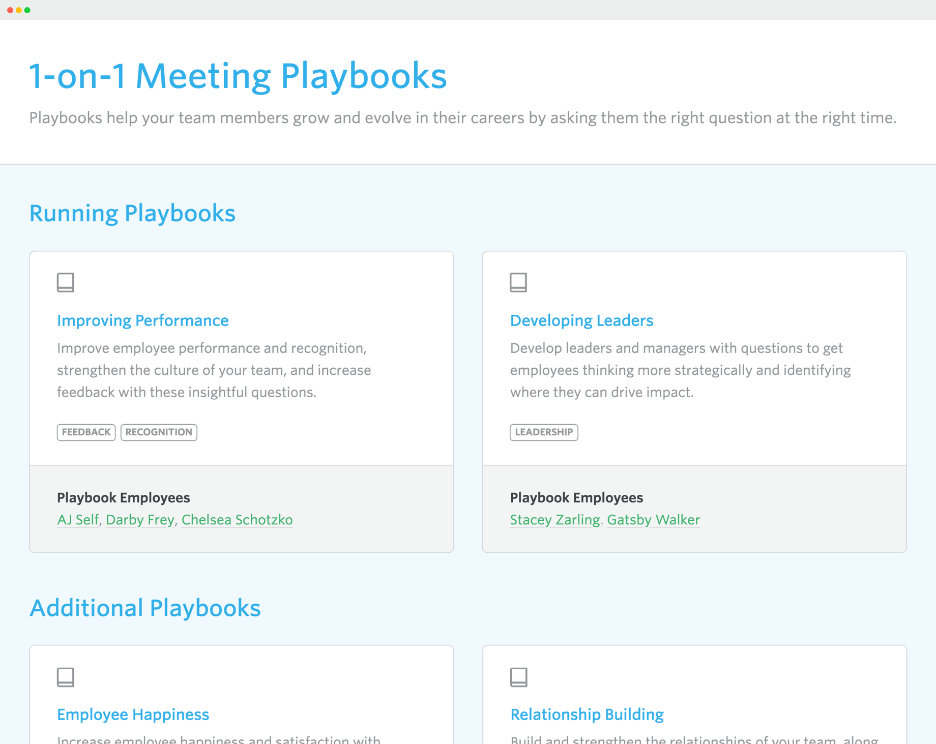 Lead Honestly Playbook dashboard topics
